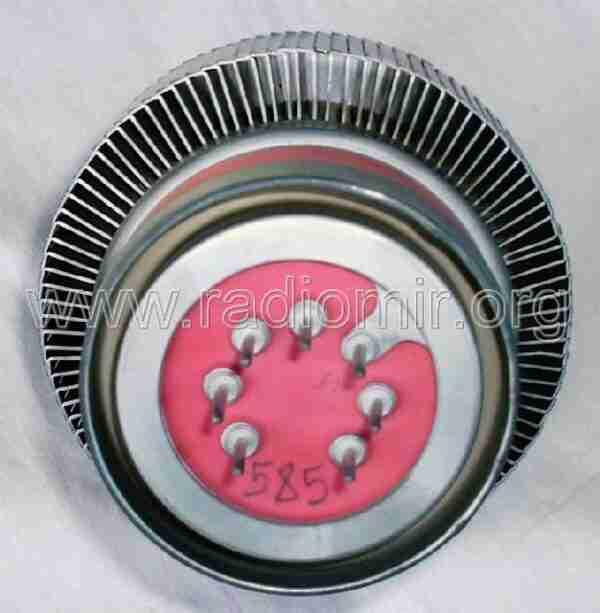 ГУ74Б Мощный метало-керамический тетрод. Выводы