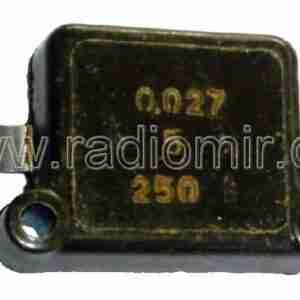 КСО-8 0,027 мкф 250 вольт конденсатор слюдяной