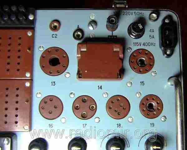 Л3-3 - Измеритель параметров электронных ламп. Регуляторы прибора