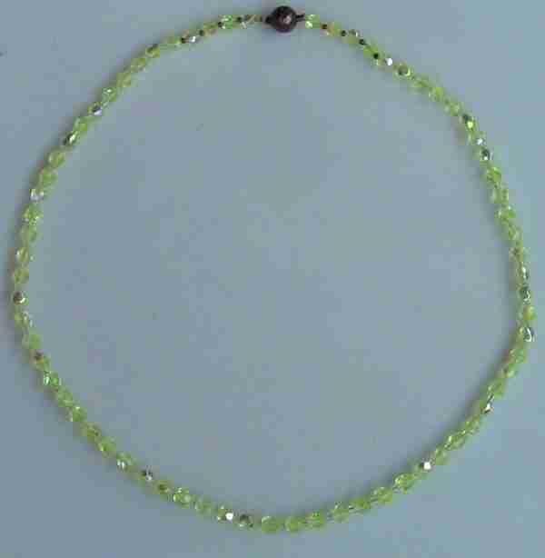 Урановое стекло, Колье Aurora Borealis, 50-х годов