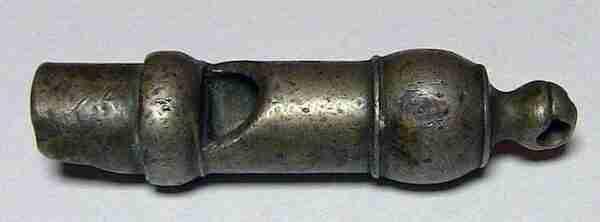 Свисток старинный бронзовый